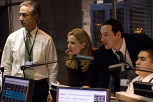 David Strathairn, Joan Allen y Tom Gallop